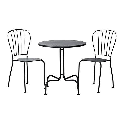 LÄCKÖ Table et 2 chaises IKEA Facile à nettoyer : il suffit d'essuyer avec un chiffon humide.