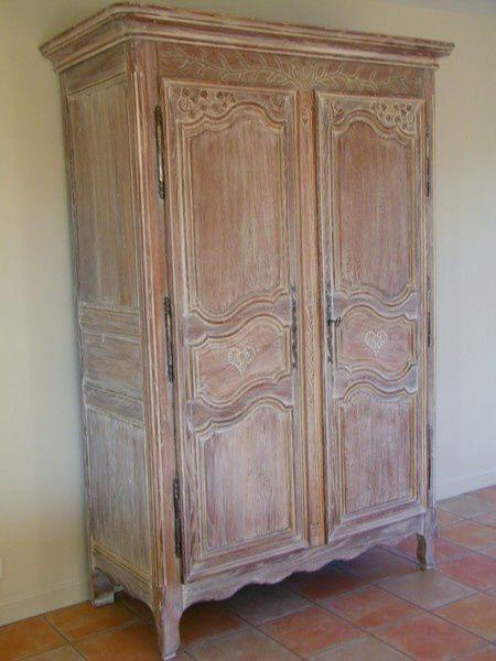 ceruse sur armoire chene