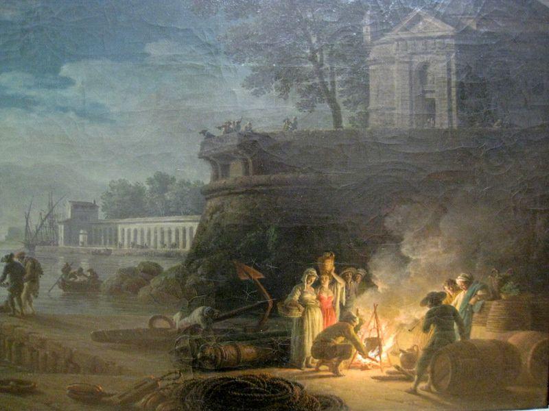 La Nuit Un Port De Mer Au Clair De Lune Tableau De