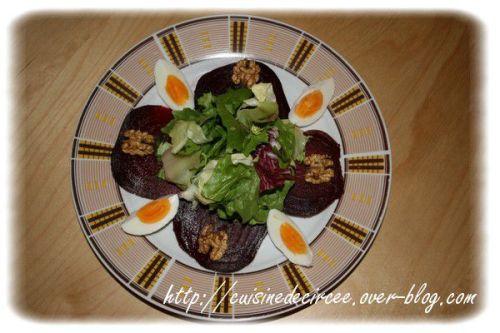 Salade de betterave et noix