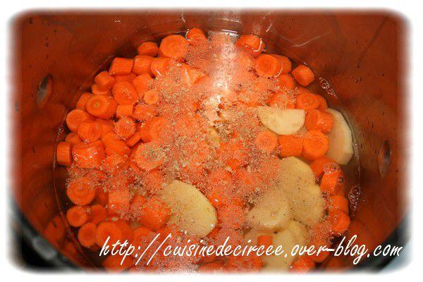 Soupe carottes pommes de terre et fromage la cuisine de circ e - Soupe potiron cocotte minute ...