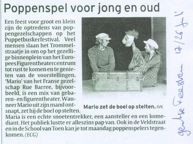article Puppetbaskerfestival Gent copie