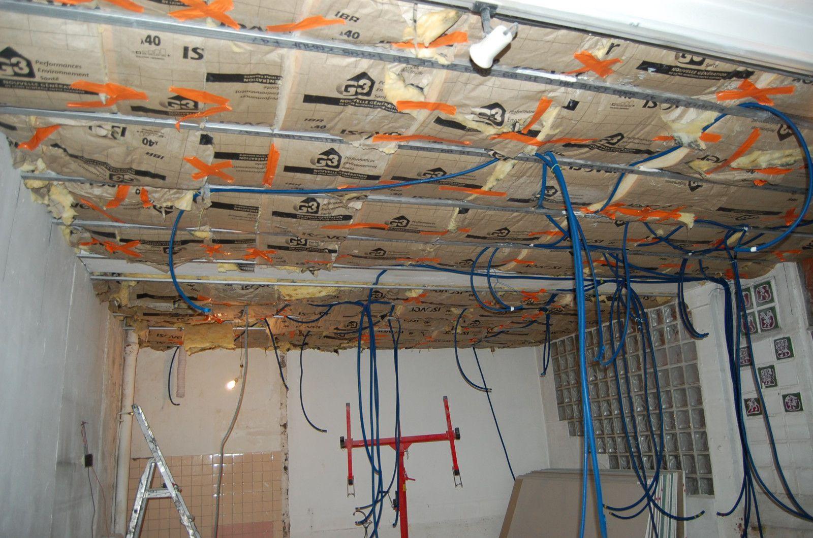 Pose Laine De Verre Plafond