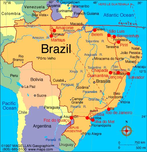 Image result for bresil carte