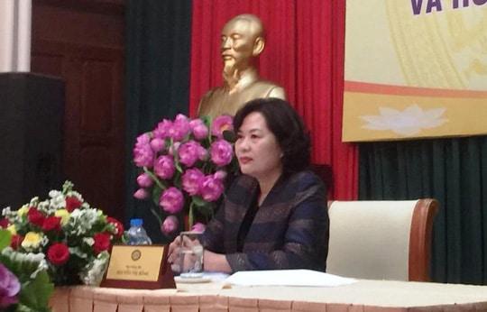 Phó thống đốc NHNN Nguyễn Thị Hồng chủ trì cuộc họp báo