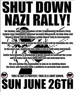 ALERT! Matthew Heimbach's 'Traditional Workers Party' to Rally in Sacremento, CA; Antifa Organizing Opposition @ Sacramento | California | United States