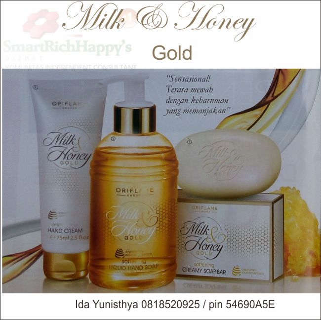 Rangkaian Milk & Honey Gold Oriflame