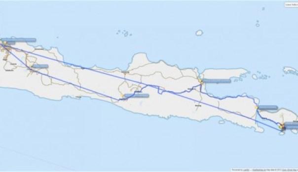 Overland trip from Denpasar - Jakarta