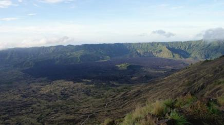 The result of Mount Batur eruption, viewed from its slope