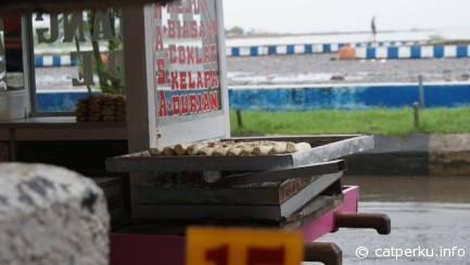 Pisang epe, a famous street food in Makassar