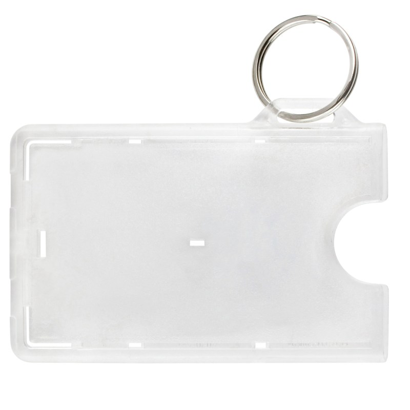 Frosted 1-Card, Badgeholder, w/ Key Ring