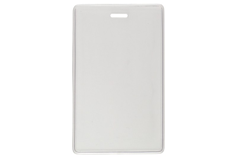 Vertical Shielded Magnetic Badge Holder, Rigid Plastic, Clear Vinyl