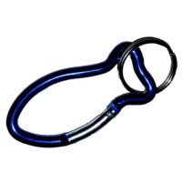 Carabiner Fish Shape BLUE with Split Ring