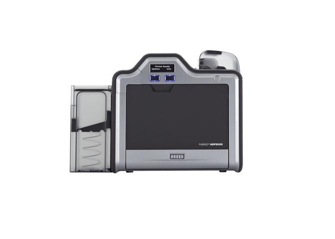 Fargo HDP5000 SS Printer w iCLASS MIFARE/DESFire Contactless Encoder