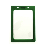 Vertical Color Frame Badge Holder with Slot and Chain Holes