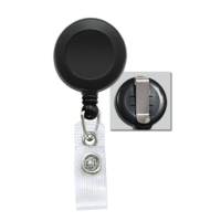 Economy Round Badge Reel with Vinyl Strap and Slide Belt