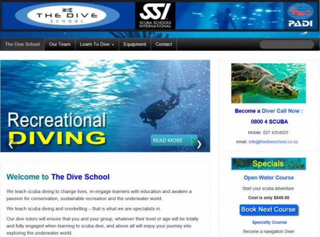 The dive school