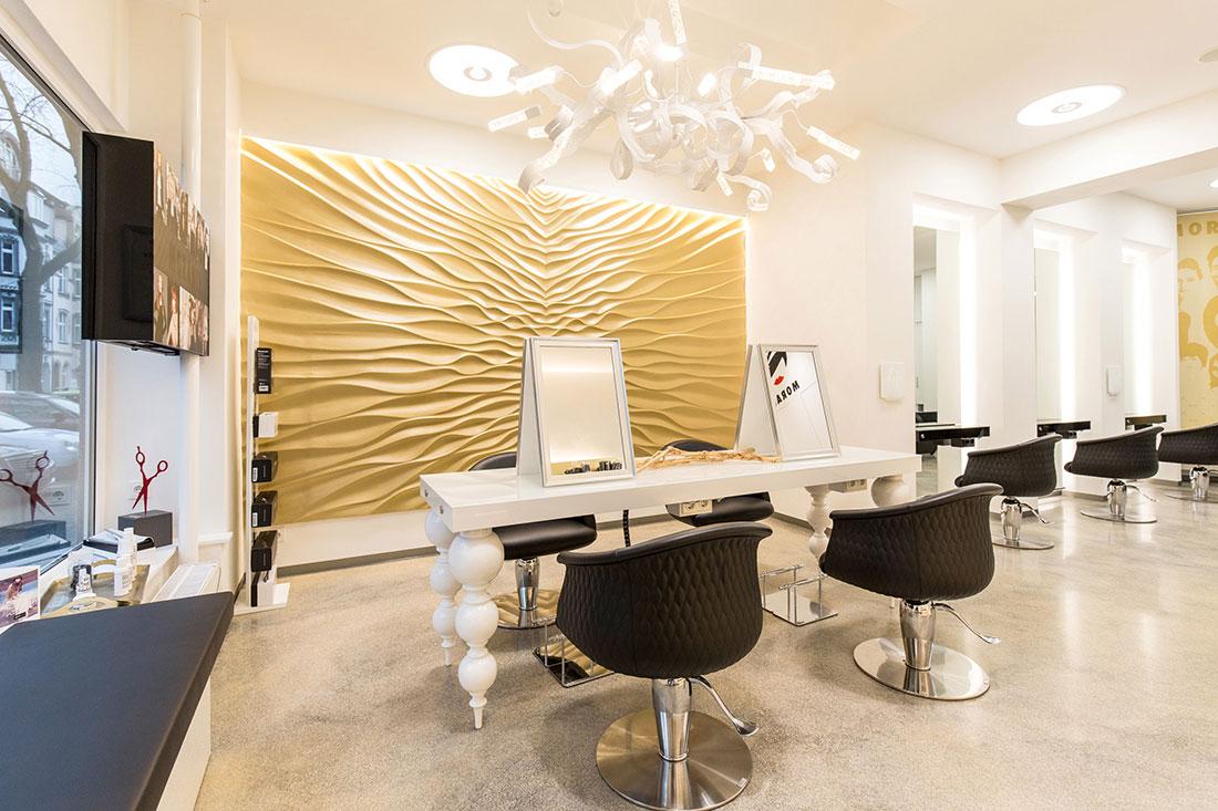 Friseureinrichtung, Friseurbedarf, Bedienplatz, Presence Paris Friseurstuhl Mimi