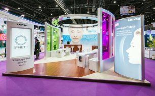 LONZA exhibit at IN Cosmetica Asia, Bangcock, by Idea International, Inc.