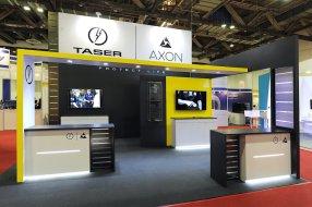 TASER AXON Exhibit at Security Asia Singapore by Idea International, Inc.