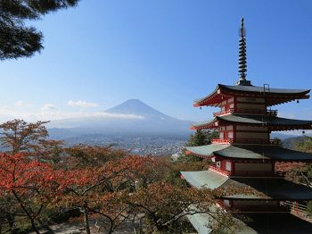 富士山と五重塔