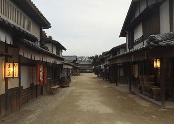 江戸時代の町の映画セット