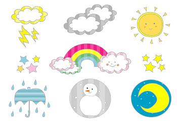 天候のイラスト