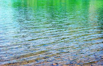 透き通った水の流れ