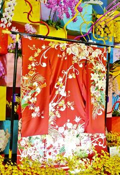 衣桁の着物