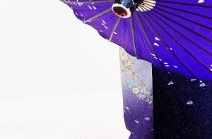 和傘と着物
