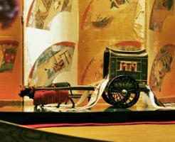 牛車の模型