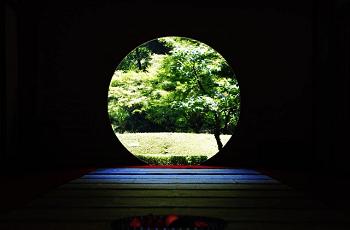 丸窓からの景色