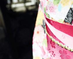 女性の着物と帯