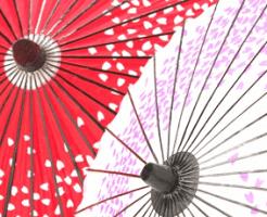 紅白の和傘