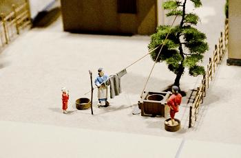 江戸時代の庶民の生活の模型