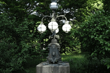 新緑の中の電燈