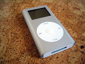 English: Apple iPod mini grey.
