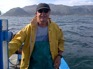 Fishing off Kalk Bay in January 2006.
