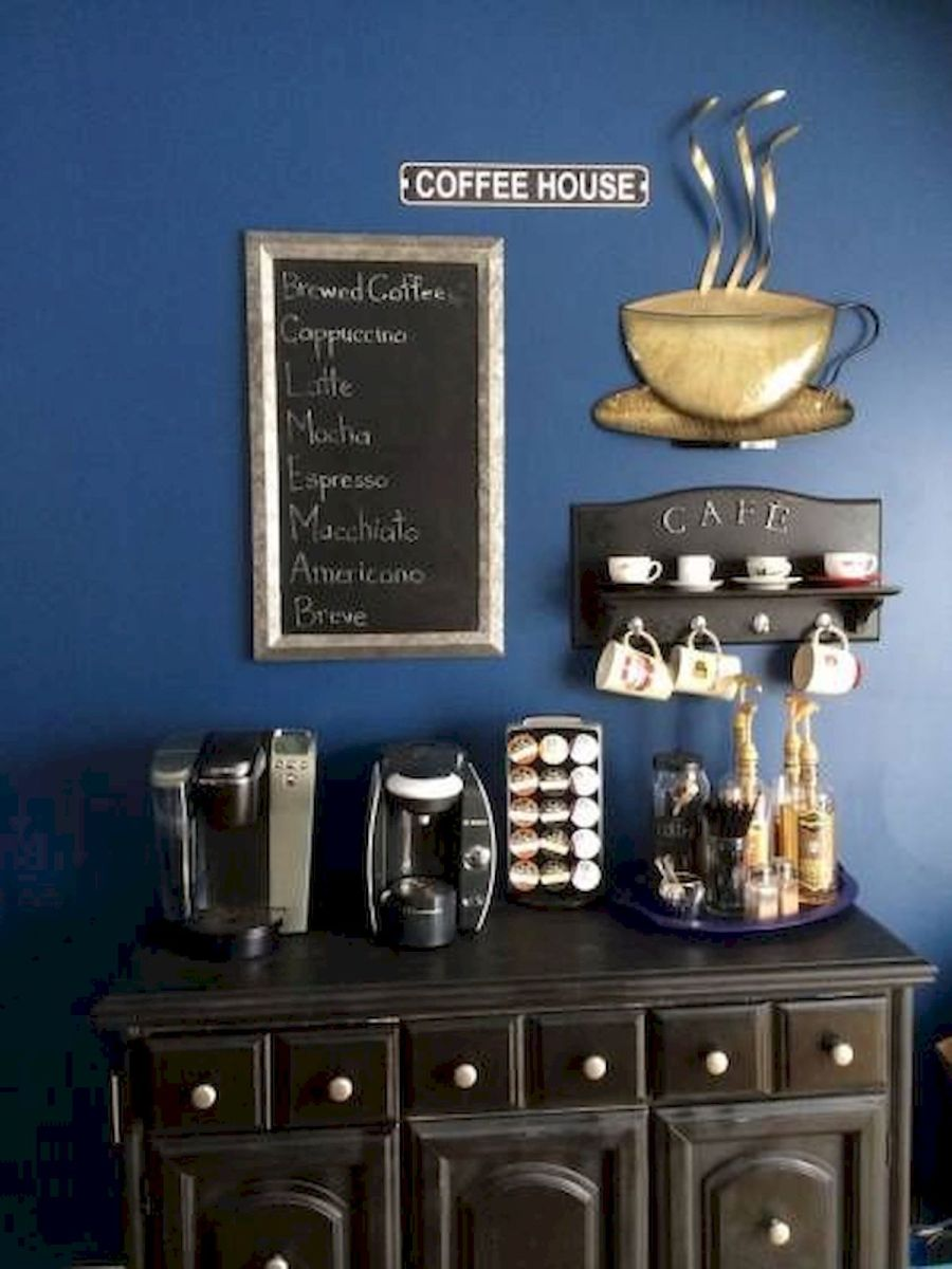 60 Best Mini Coffee Bar Ideas for Your Home (39)