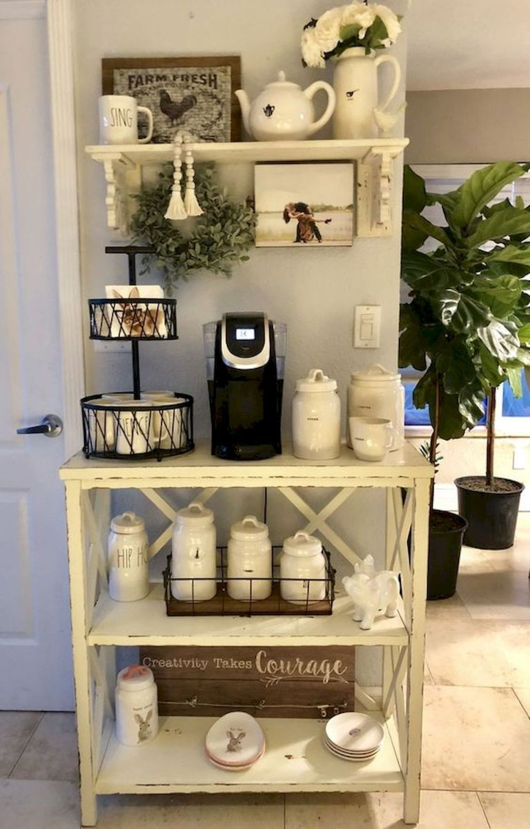 60 Best Mini Coffee Bar Ideas for Your Home (43)