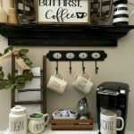 60 Best Mini Coffee Bar Ideas for Your Home (52)