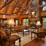 63 Best Log Cabin Homes Fireplace (15)