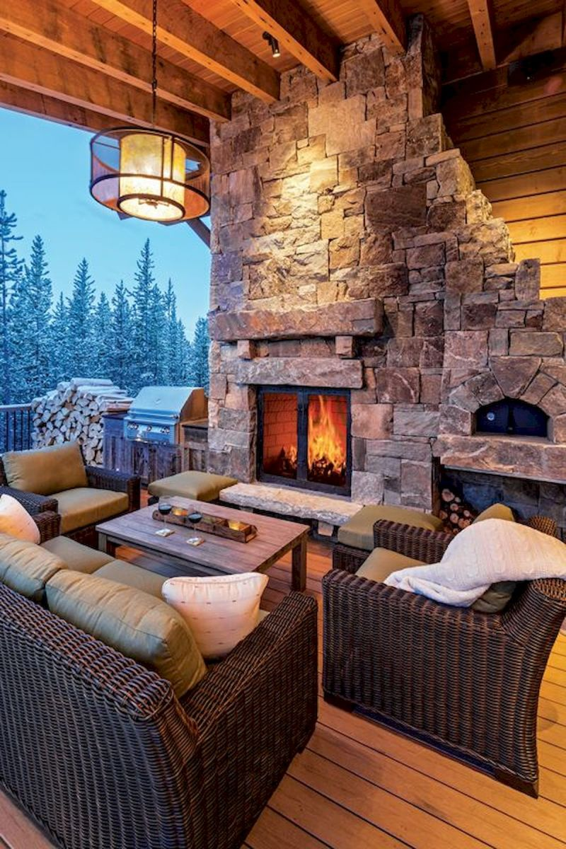 63 Best Log Cabin Homes Fireplace (28)