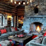63 Best Log Cabin Homes Fireplace (29)