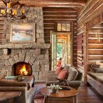 63 Best Log Cabin Homes Fireplace (45)
