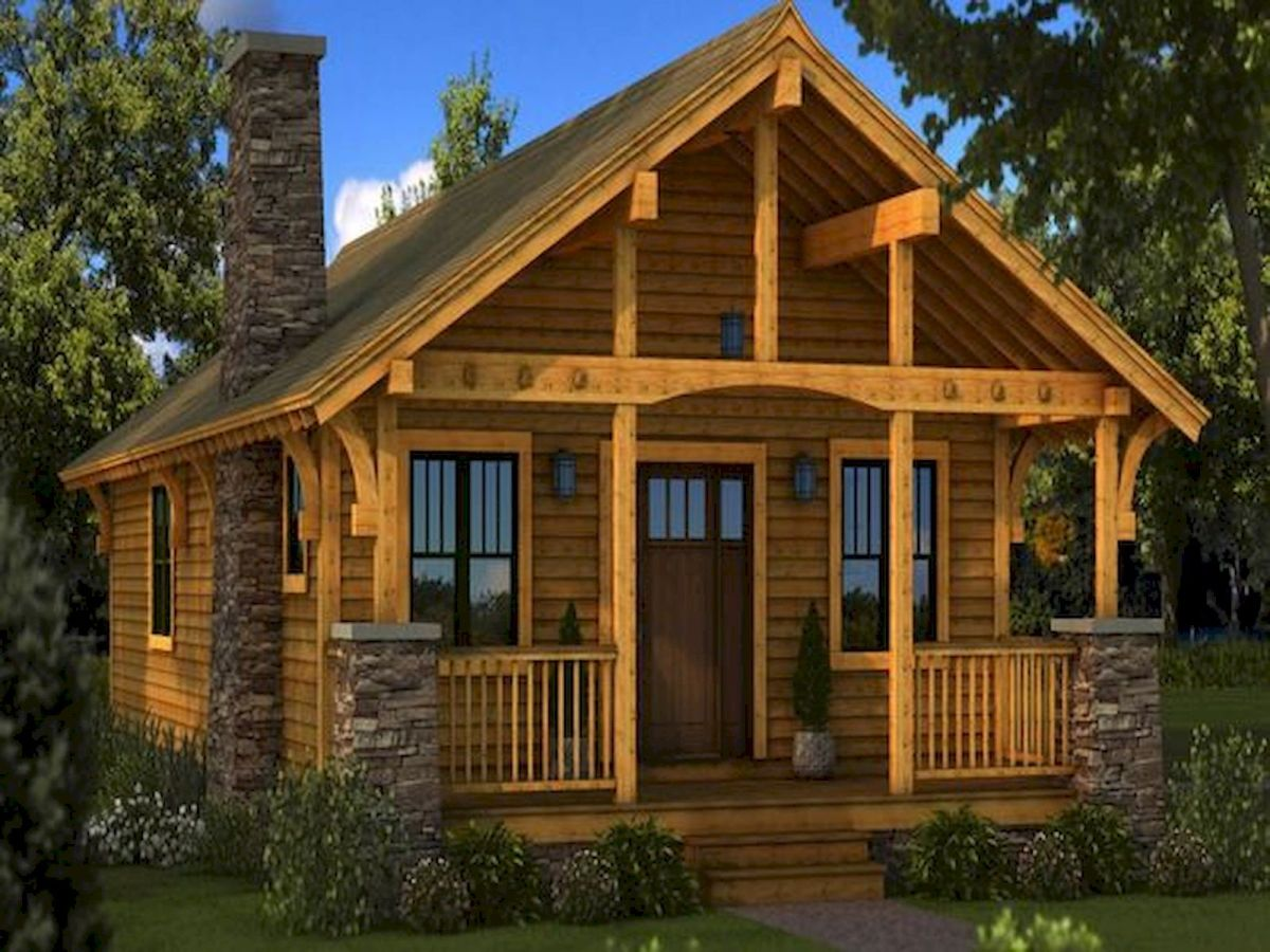 66 Best Small Log Cabin Homes (1)