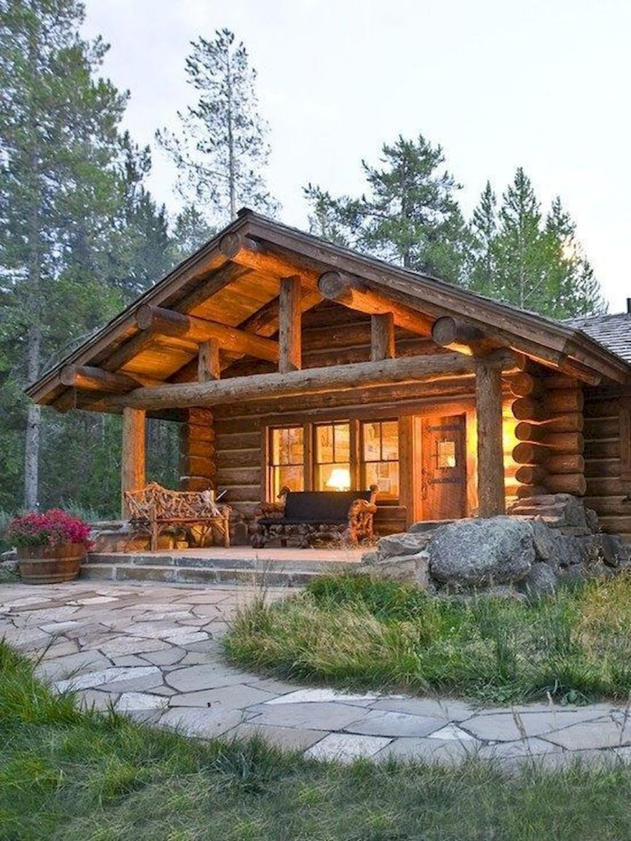 66 Best Small Log Cabin Homes (52)