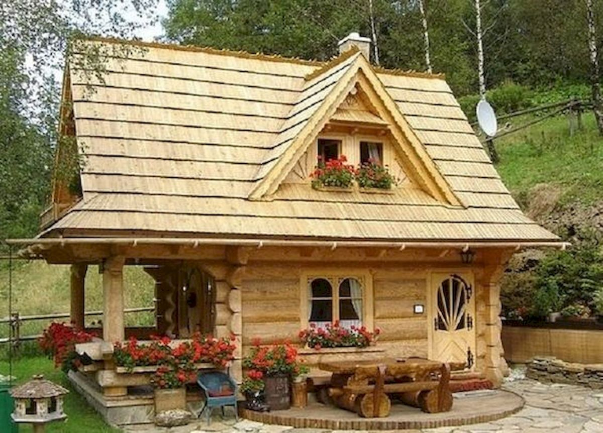 66 Best Small Log Cabin Homes (54)