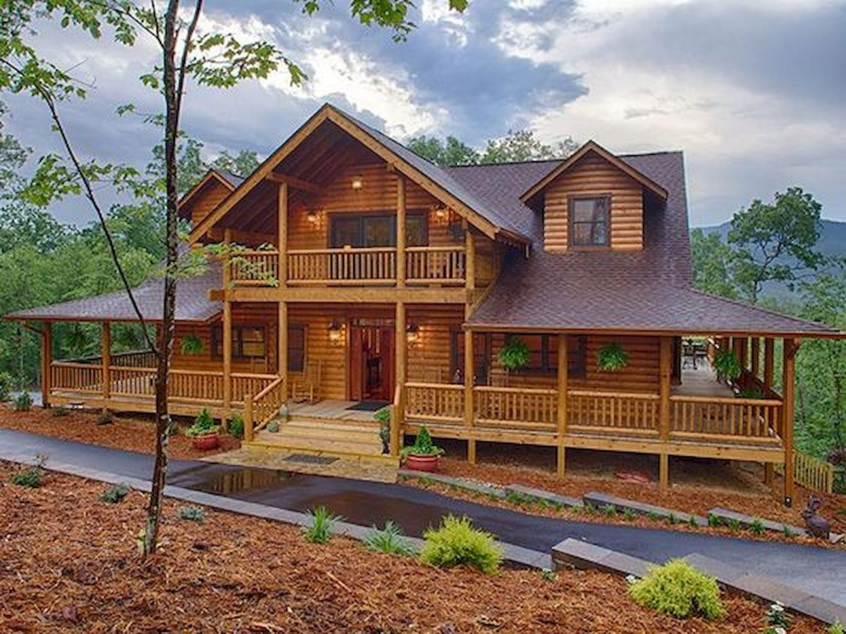 75 Best Log Cabin Homes Plans Design (42)