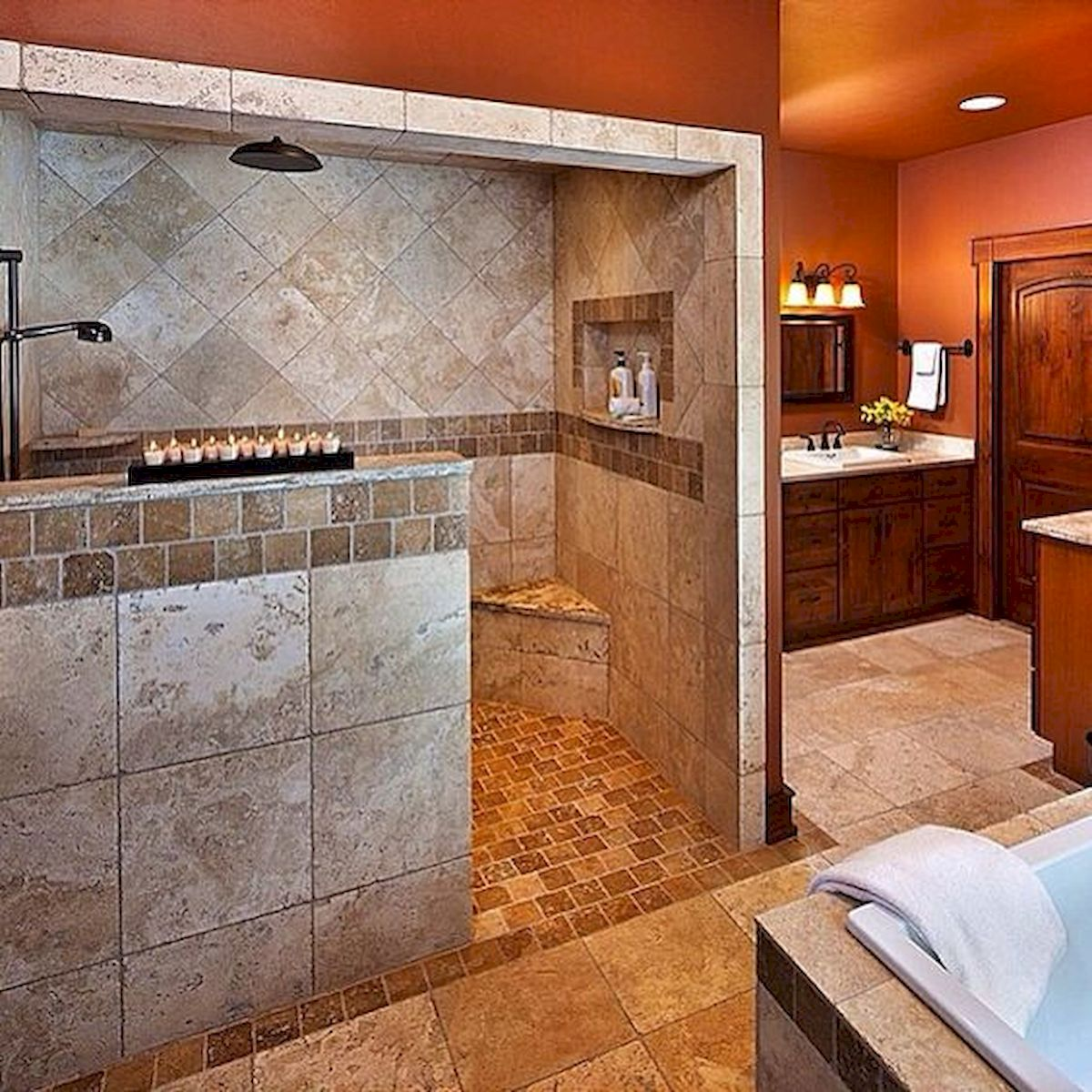 50 Fantastic Walk In Shower No Door for Bathroom Ideas ...
